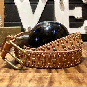 NWT J. Crew Leather Studded Belt